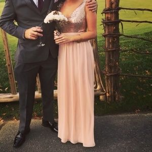 Gorgeous  Rose Gold Prom/ Wedding Dress  Size 6